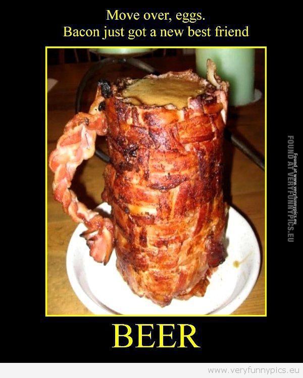 Bacon beer mug