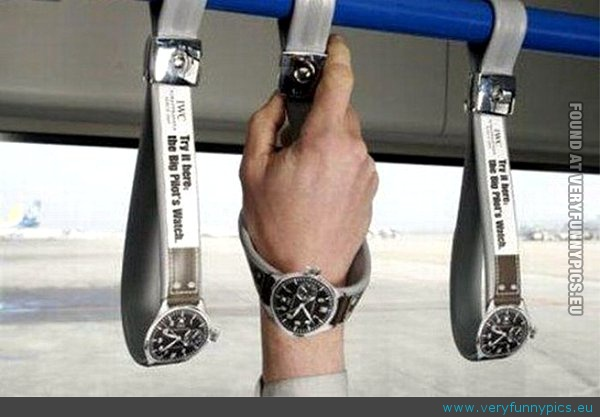 Funny Picture - Creative bus handles advertising