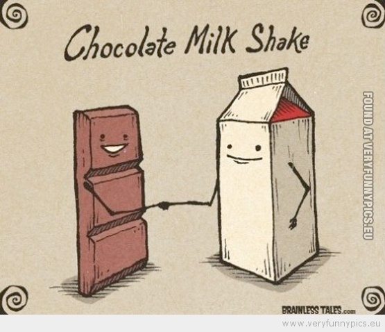 Funny Picture - Chocolate milk shake