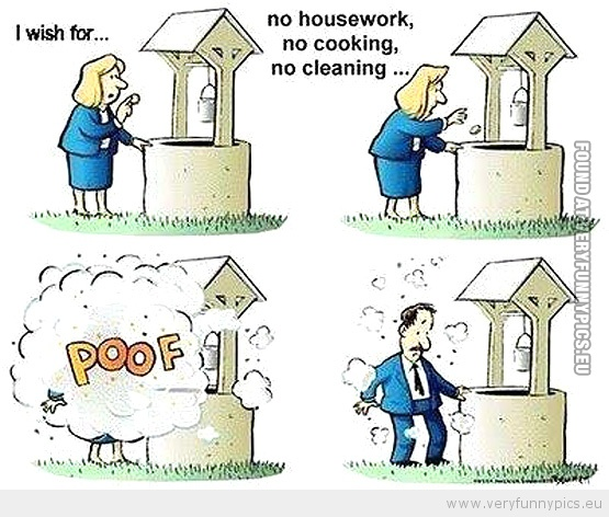 Funny Picture - No more housework cartoon