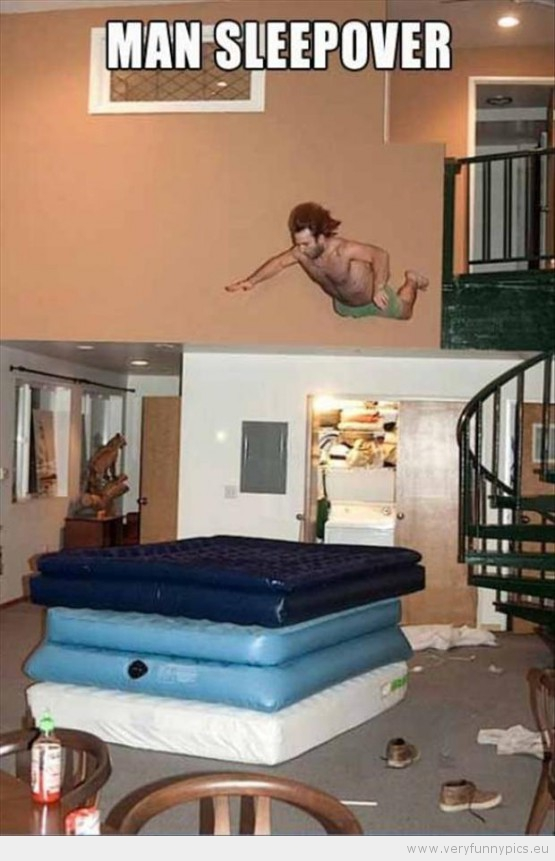 Funny Picture - Man sleep over