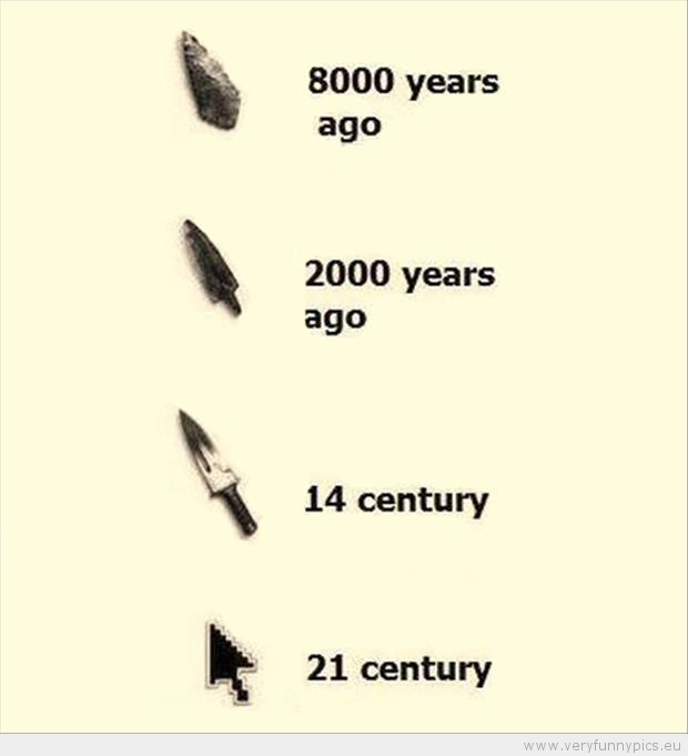 Evolution of the arrow