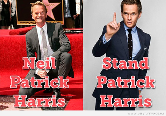 Funny Picture - Neil Patrick Harris VS Stand Patrick Harris