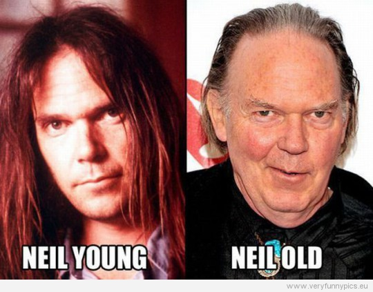 Funny Picture - Niel Young VS Niel Old
