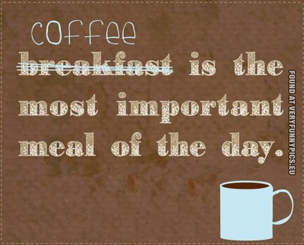 Funny Picture - Coffee is the most important meal of the day