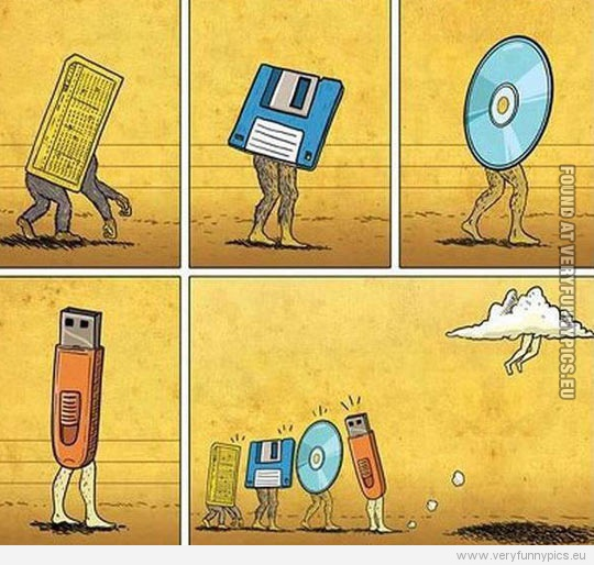 Funny Pictures - Data storage evolution