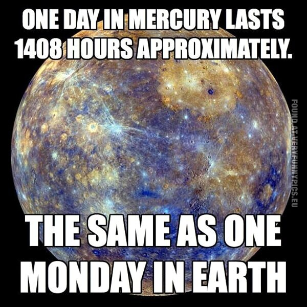 One monday on earth