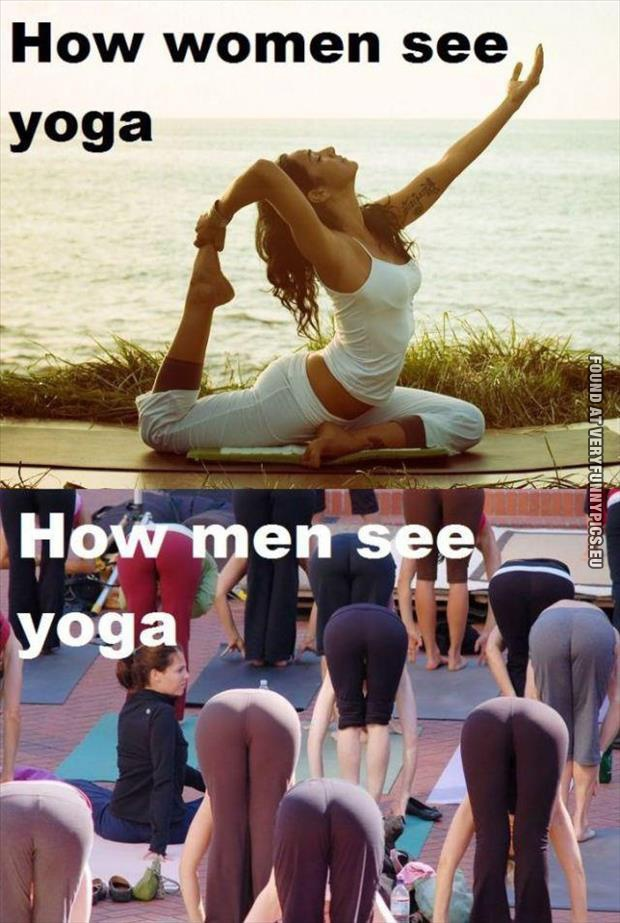 funny picture perception of yoga