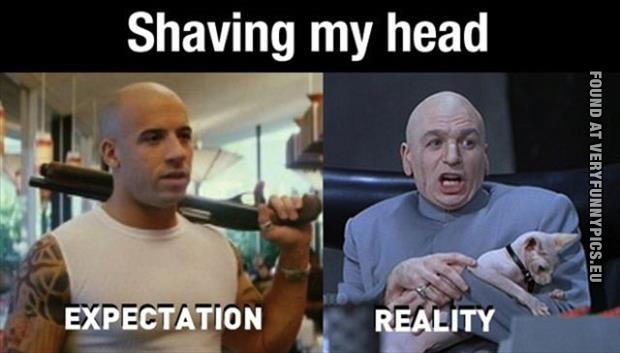 Shaving My Head Very Funny Pics