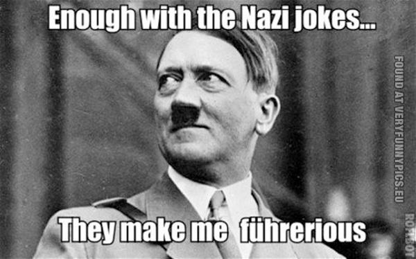 Hitler can't take a joke