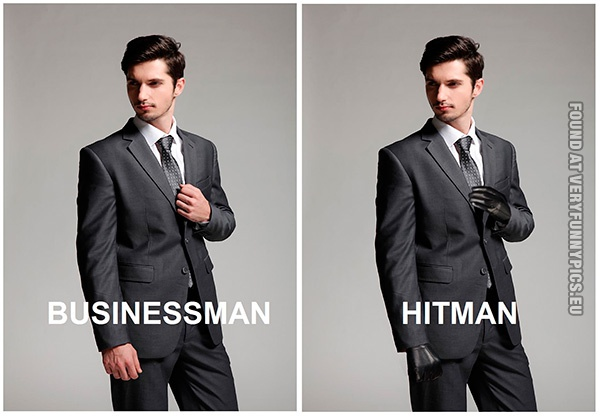 The Difference Between A Businessman And A Hitman Very Funny Pics