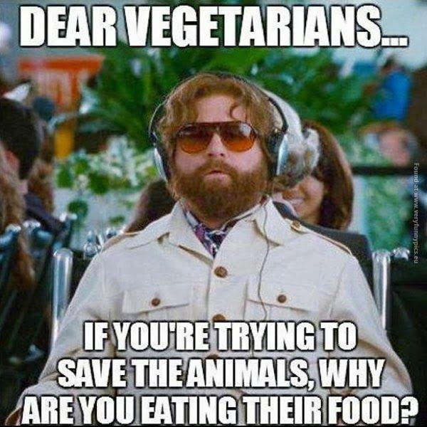 Dear vegetarians…