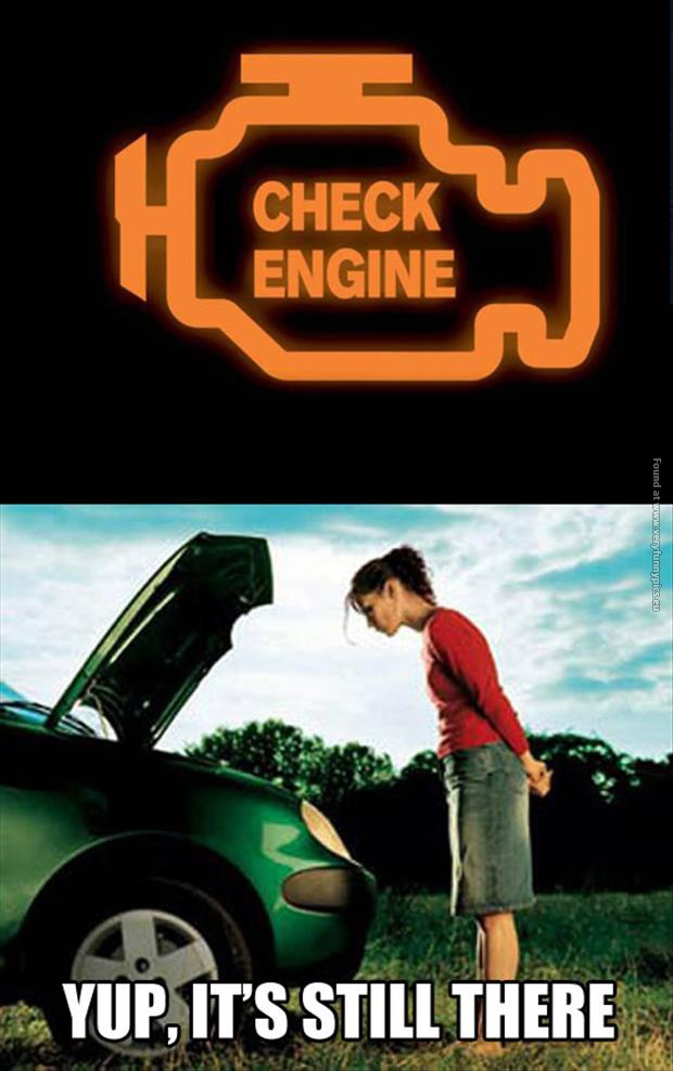 Image result for check engine light meme