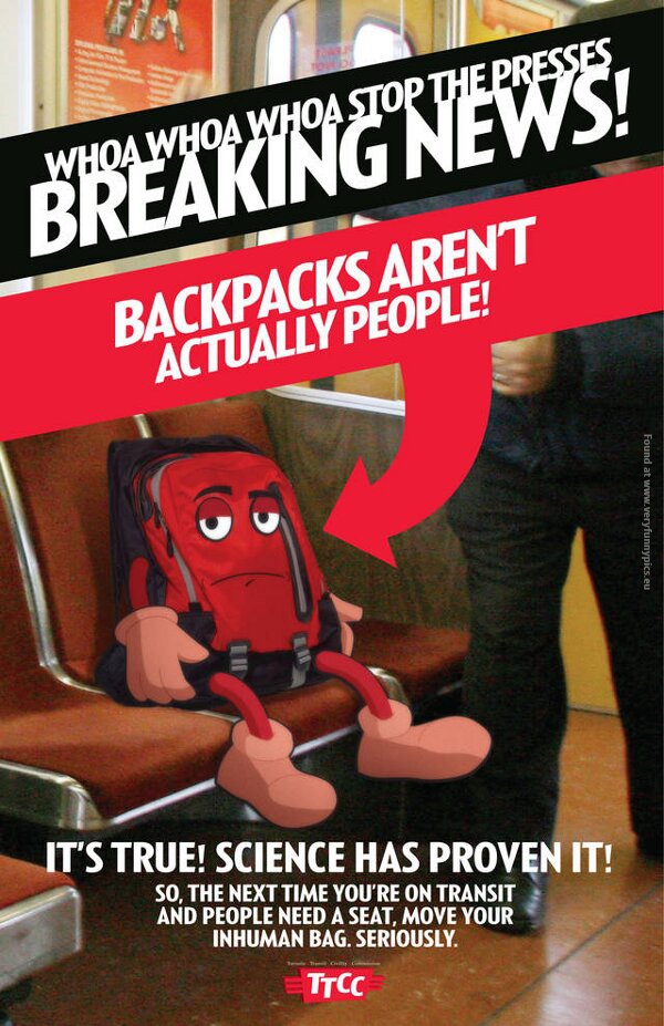 funny pictures backpacks arent people advertising
