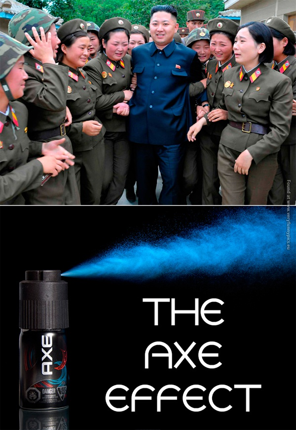 Kim Jong Un is using Axe