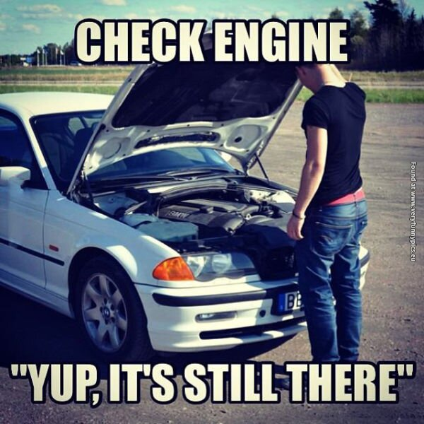 funny pictures check engine man