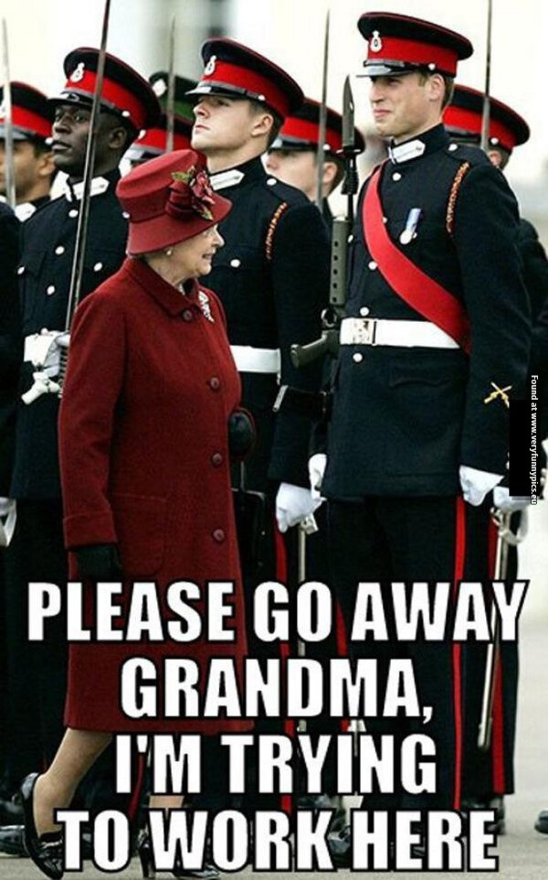 Awkward moment for Prince William