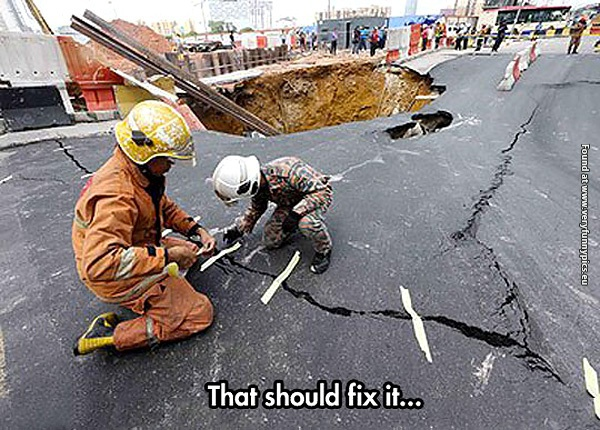 Just fixing the road