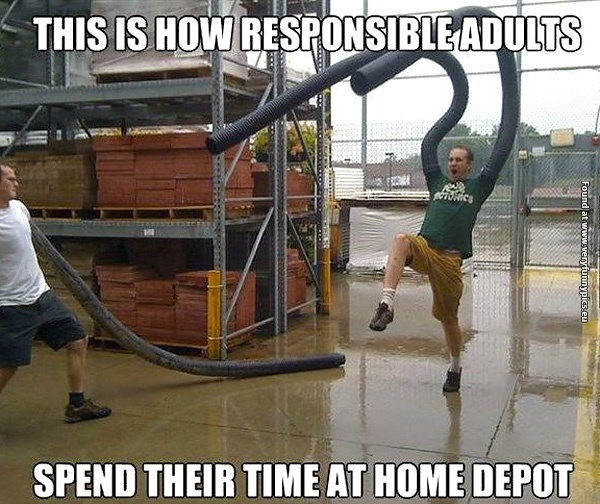 So much fun at Home Depot
