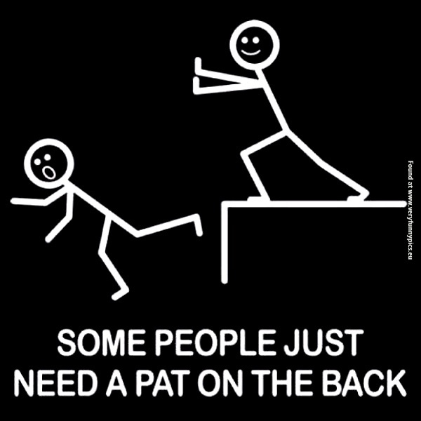 A pat on the back