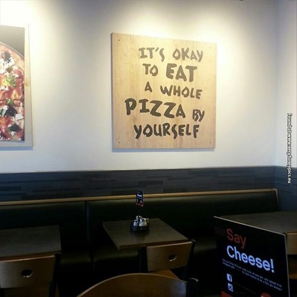 My local pizzeria sucks at diet advices
