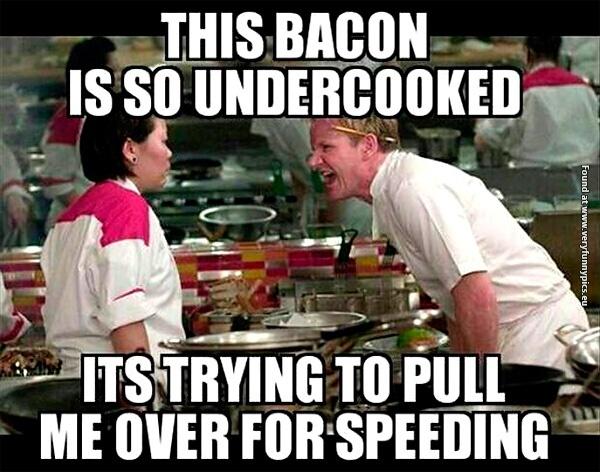 Undercooked bacon