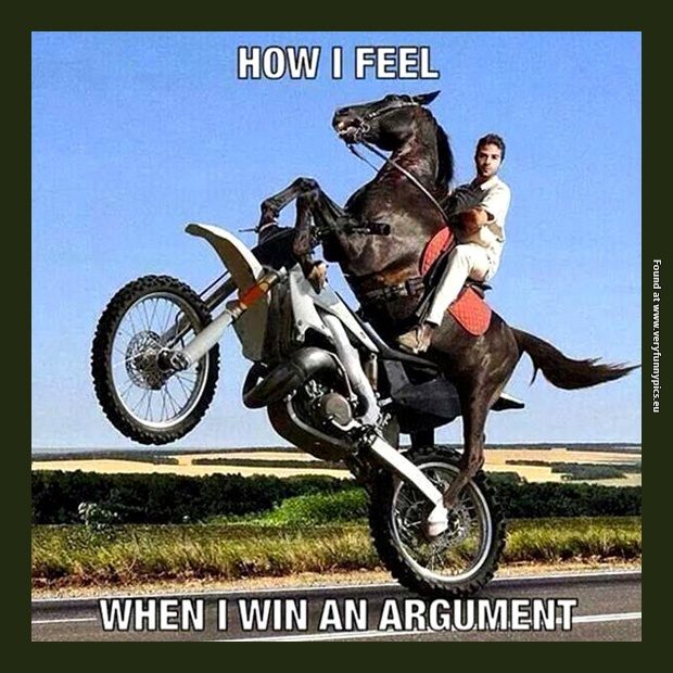 How winning an argument with a woman feels