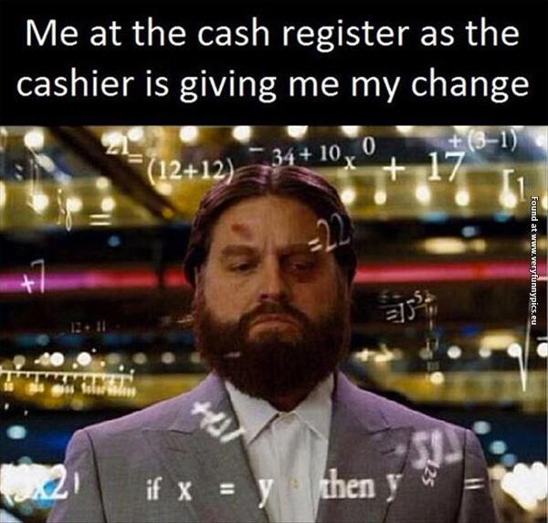 Feeling like Einstein at the cash register