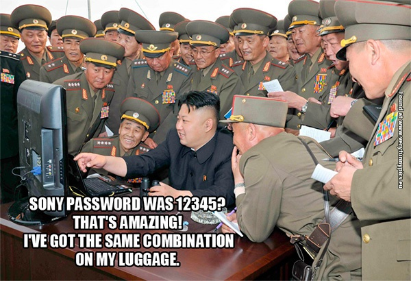 Sony's password was easy for Kim to crack