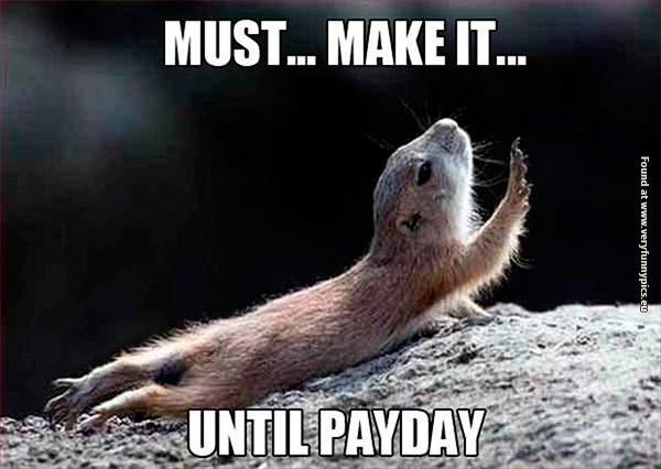 Waiting for the payday in january