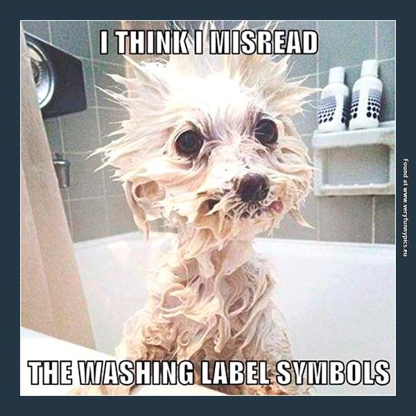 Always read the washing label symbols