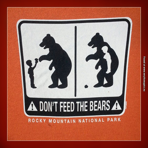 Why you shouldn't feed the bears