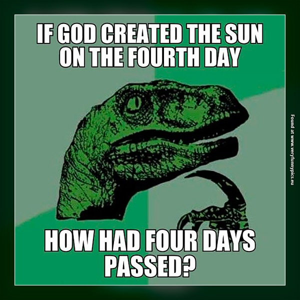 The creation of the sun on the fourth day