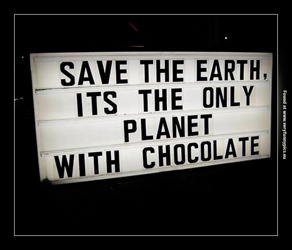 A good reason to save the earth