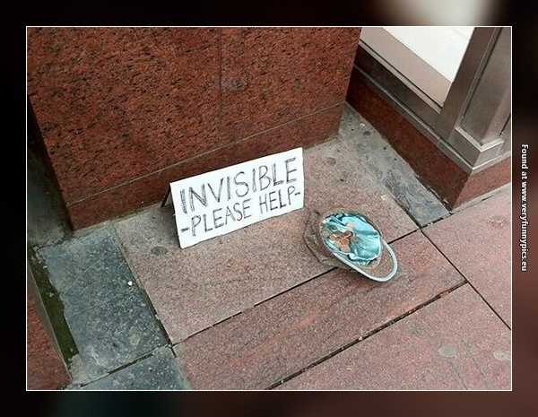 Invisible, or just to lazy to beg…
