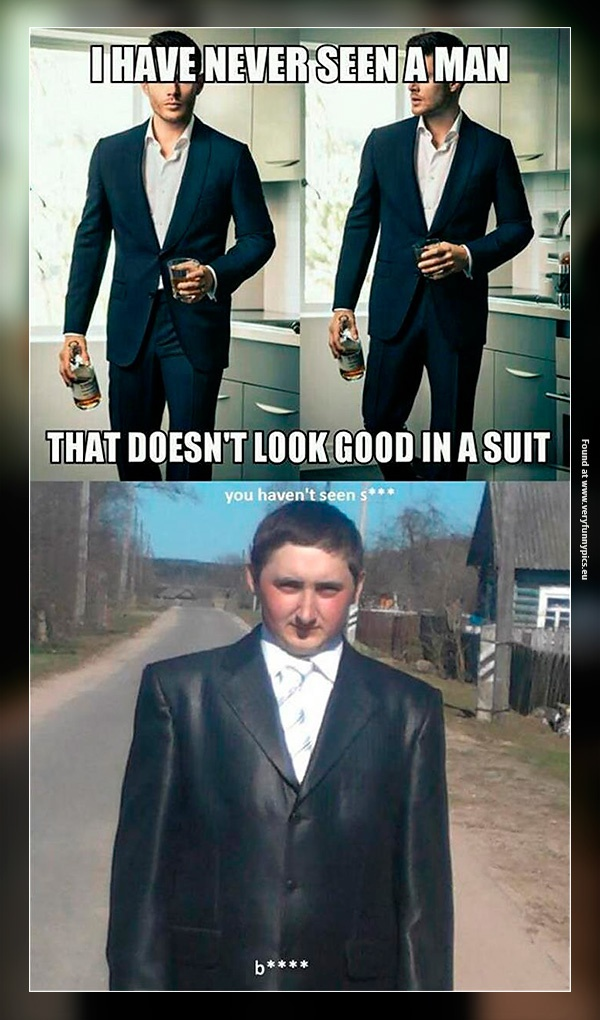 Suits don't suit everyone