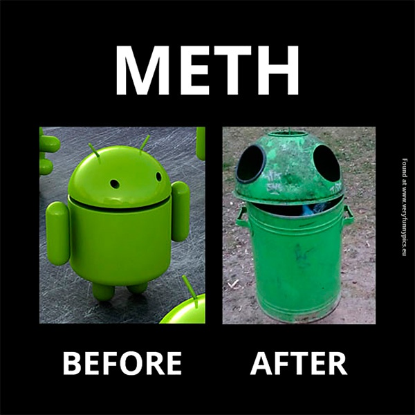 BugDroid, before and after meth
