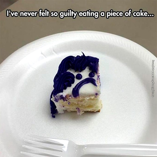It's not just the calories that gives me guilt…