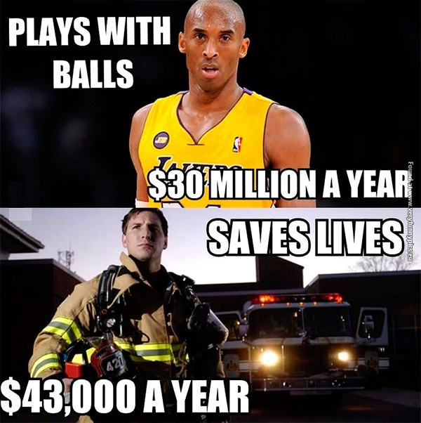 Baketball players VS Firefighters