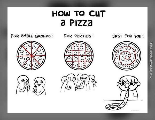 Ever wondered how to cut your pizza?