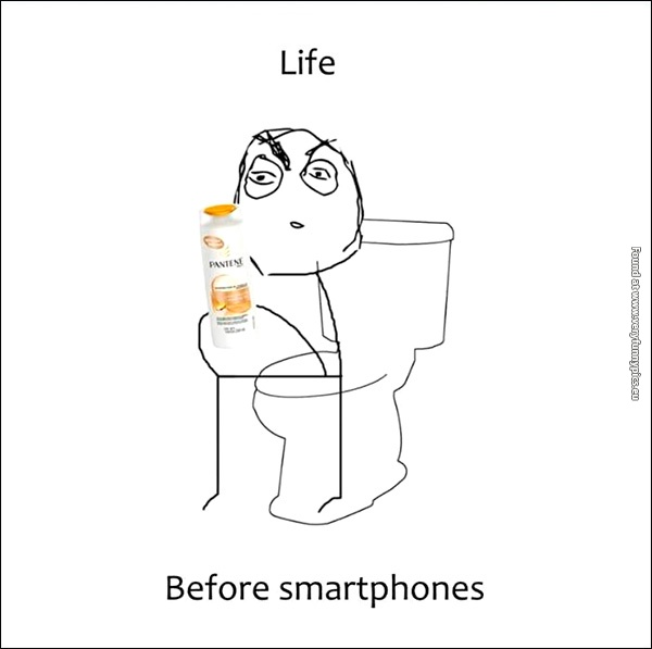 What went on in the toilet before smartphones