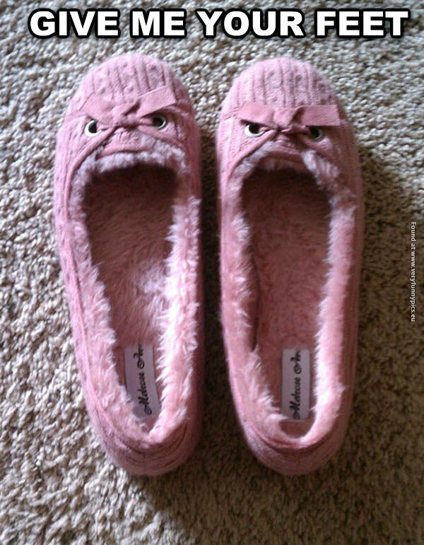 The scariest slippers you'll see today