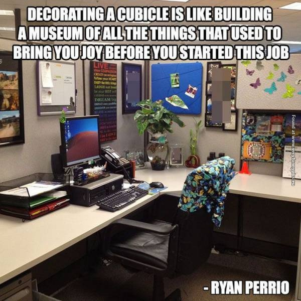 Here's why you should decorate your cubicle