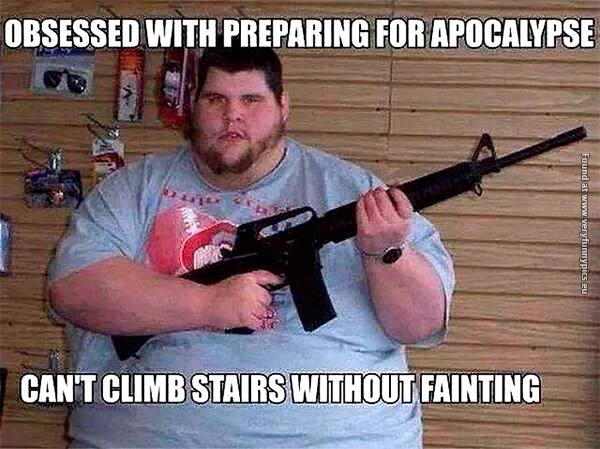 Redneck preparing for the Zombie Apocalypse