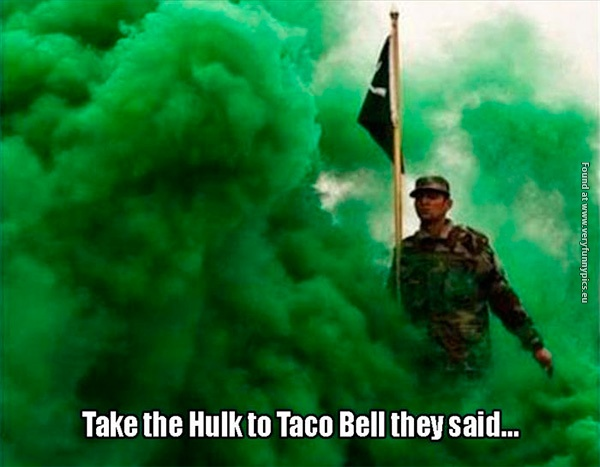 When The Incredible Hulk goes to Taco Bell