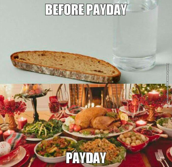 Before and after payday