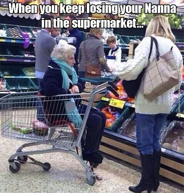 When your nanna keeps getting lost
