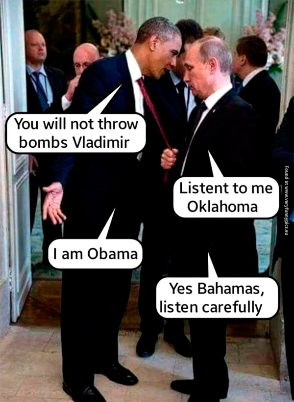 Obama and Putin doesn't always get along