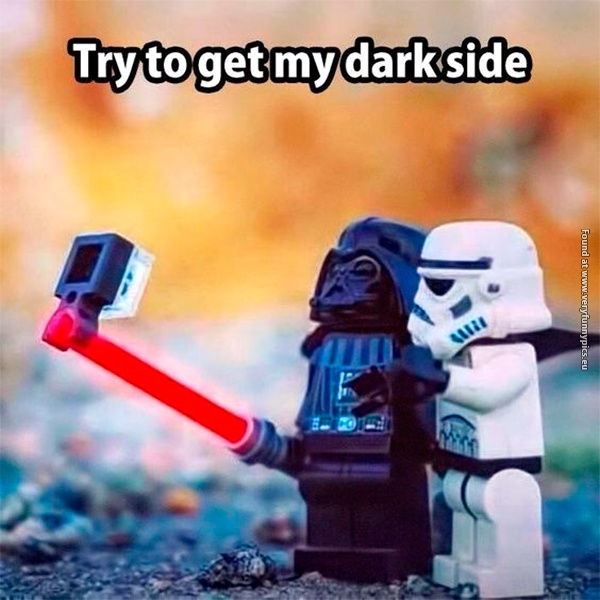 When Darth Vader takes a selfie
