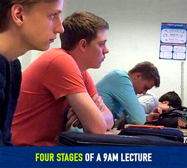 Morning lectures isn't for everyone